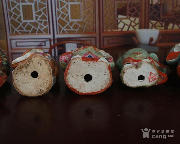 文革老厂瓷器 站八仙雕塑一套图12
