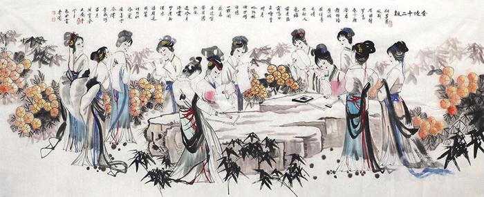 刘学多  183 小八尺国画人物 带合影 图3