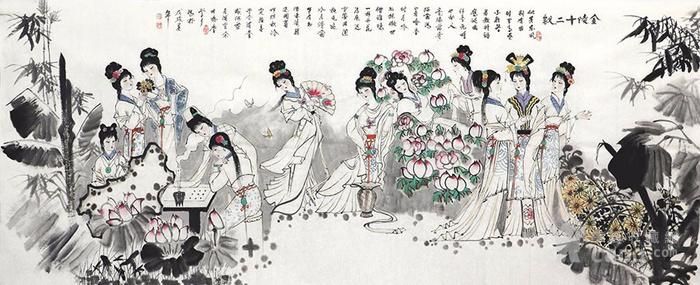 刘学多  183 小八尺国画人物 带合影 图5