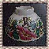 1044 古玩古董瓷器收藏清代民 国花卉大碗真品
