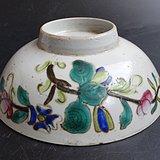 1046 古玩古董瓷器收藏清末民国花卉纹大碗包老