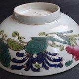 1047 古玩古董瓷器收藏清末民国花卉纹大碗包老