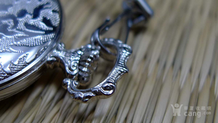 瑞士原产带链机械项链表 银色  183 稀见图3