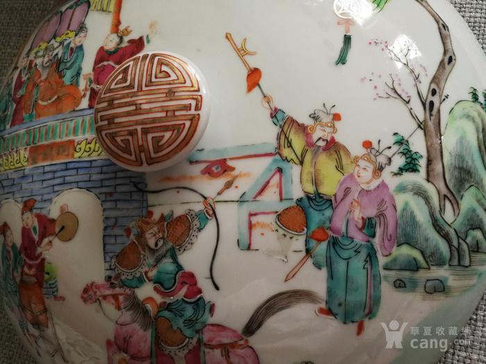 同治粉彩三国故事人物纹一品锅图12