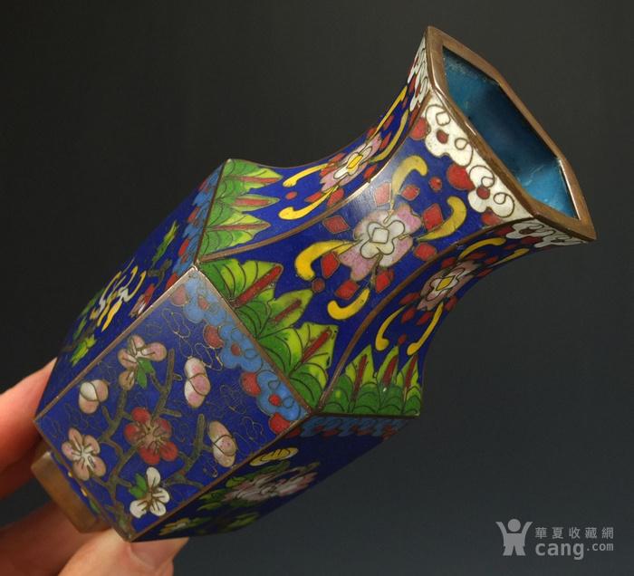 清代 铜胎掐丝珐琅  六角观音尊图7