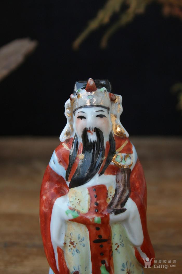 文革粉彩禄星塑像图5