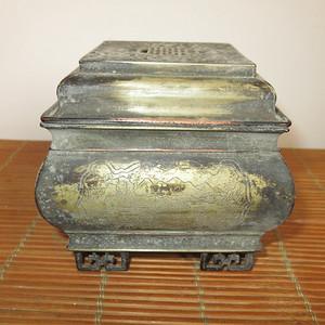 白铜薰炉铜香炉古薰炉
