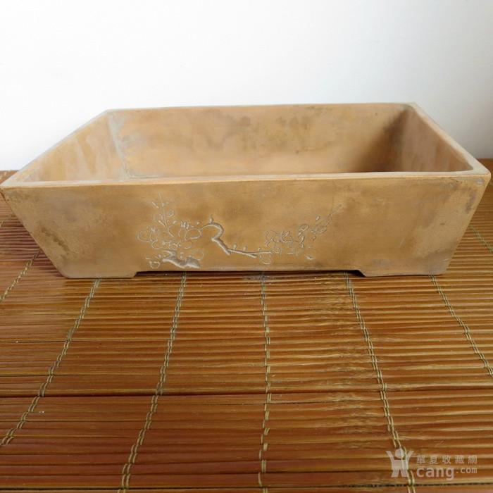 老紫砂水仙盆民国金鼎商标紫砂花盆图1