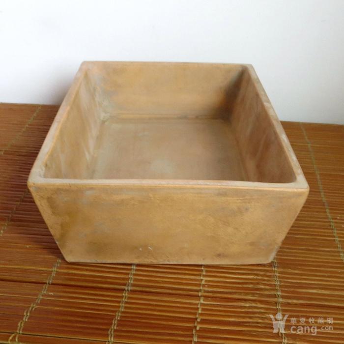 老紫砂水仙盆民国金鼎商标紫砂花盆图4