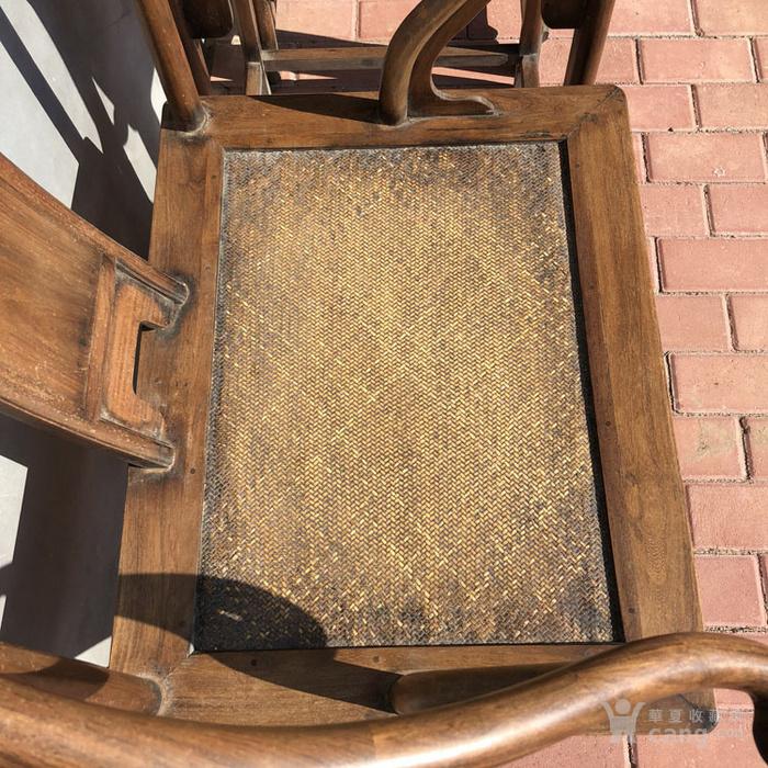 传世黄花梨老家具清代传世黄花梨藤子面圈椅家具明清家具图4