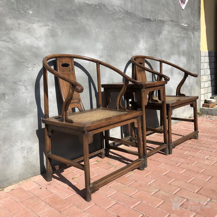 传世黄花梨老家具清代传世黄花梨藤子面圈椅家具明清家具图2