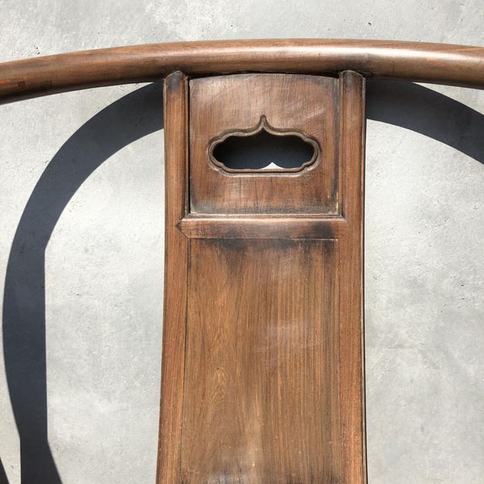 传世黄花梨老家具清代传世黄花梨藤子面圈椅家具明清家具图9