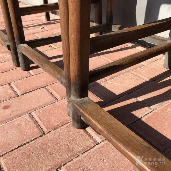 传世黄花梨老家具清代传世黄花梨藤子面圈椅家具明清家具图11
