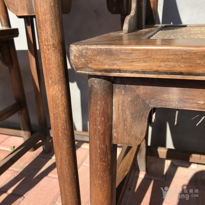 传世黄花梨老家具清代传世黄花梨藤子面圈椅家具明清家具图10