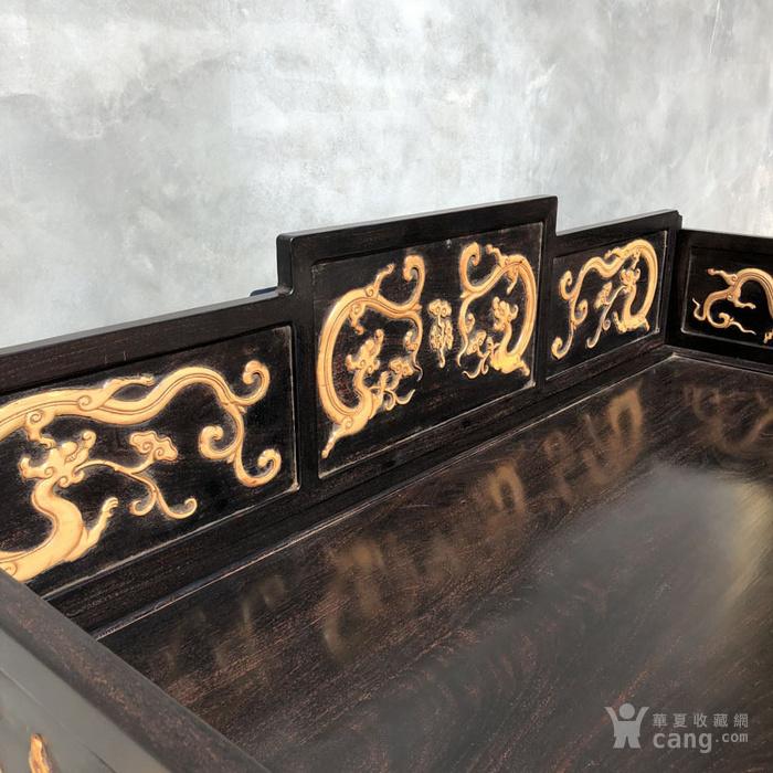 清代传世小叶紫檀镶嵌黄杨雕刻龙罗汉床围子床图6