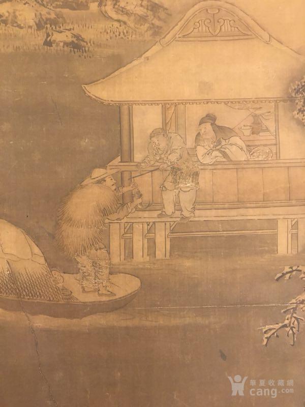 华夏书画城 书画 古代 唐寅中堂《渔翁得利图》