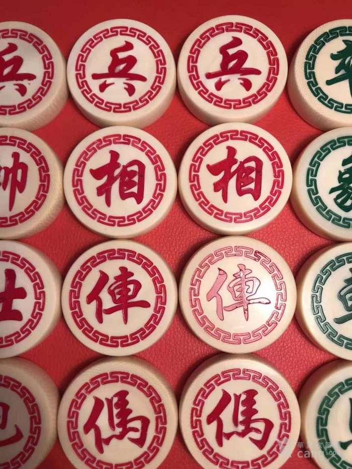 猛犸  X  Y   双面工精雕中国象棋一套  双面一样图3