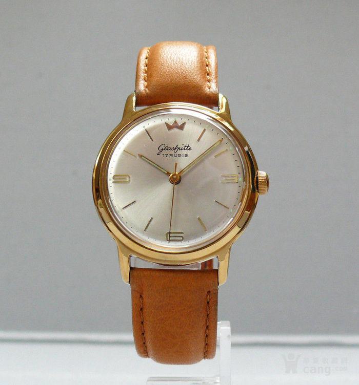 60年代原产格拉苏蒂男士机械腕表 17颗宝石图1