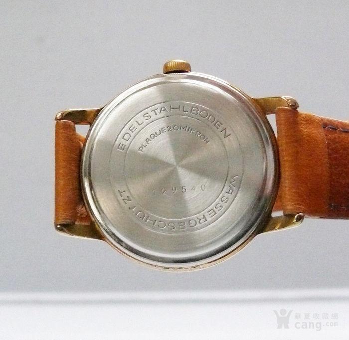 60年代原产格拉苏蒂男士机械腕表 17颗宝石图3