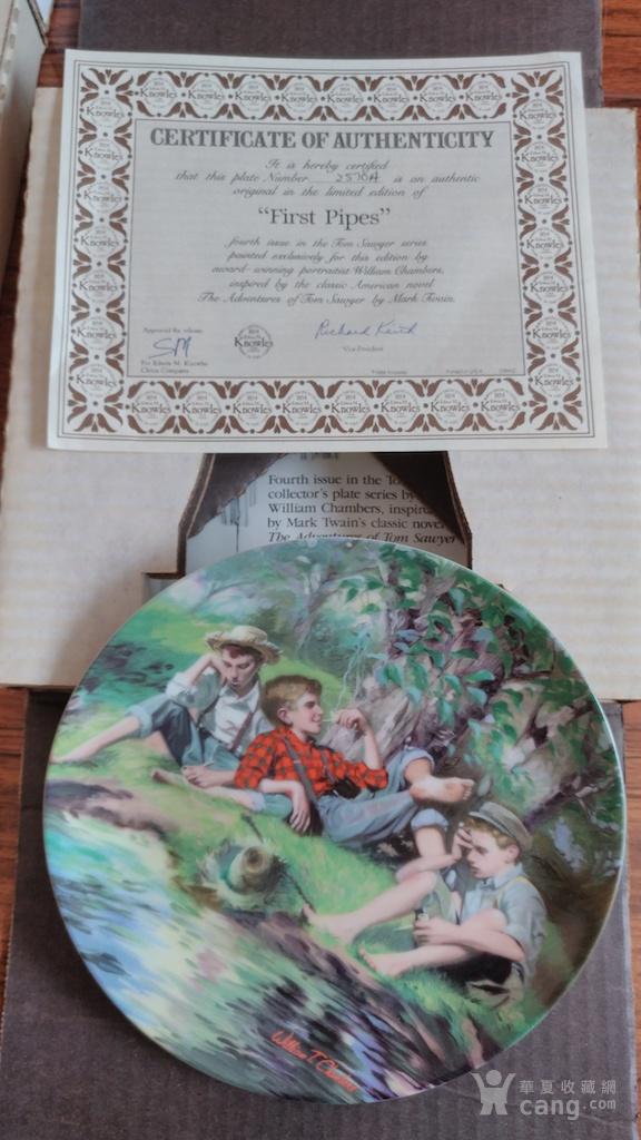 艺术纪念瓷盘  限量发行签名证书版图5