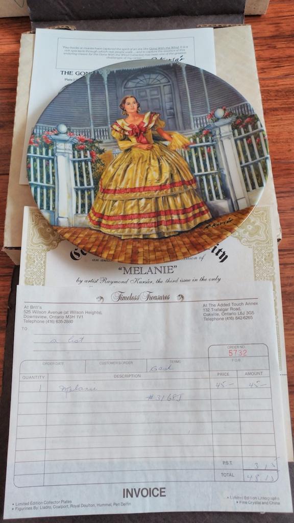 艺术纪念瓷盘  限量发行签名证书版图7