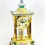 塔式珐琅彩台面座钟