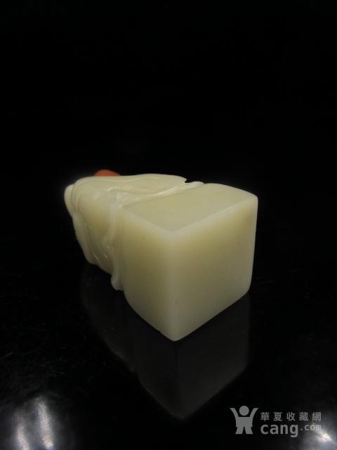 绝对精品 寿山结晶巧色白芙蓉荷花印章图10