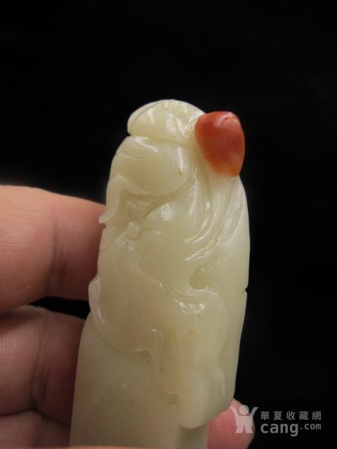 绝对精品寿山结晶巧色白芙蓉荷花印章8432 回流图7