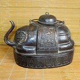 红铜大象壶 太平有象铜壶 清代老铜壶 铜酒壶