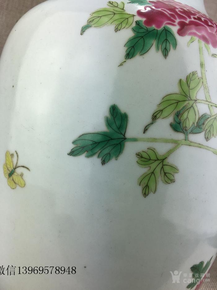 清代中期粉彩花卉瓶一件包老图2