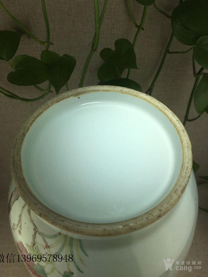 清代中期粉彩花卉瓶一件包老图3