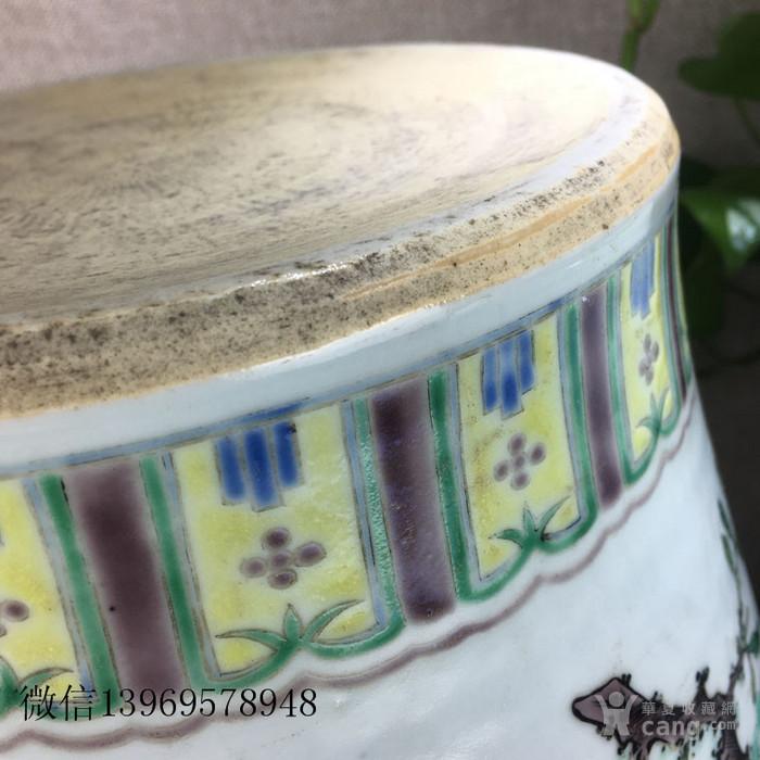古玩瓷器五彩将军罐图2