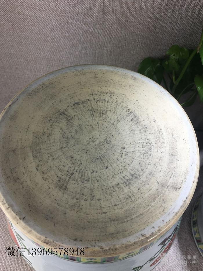古玩瓷器五彩将军罐图7