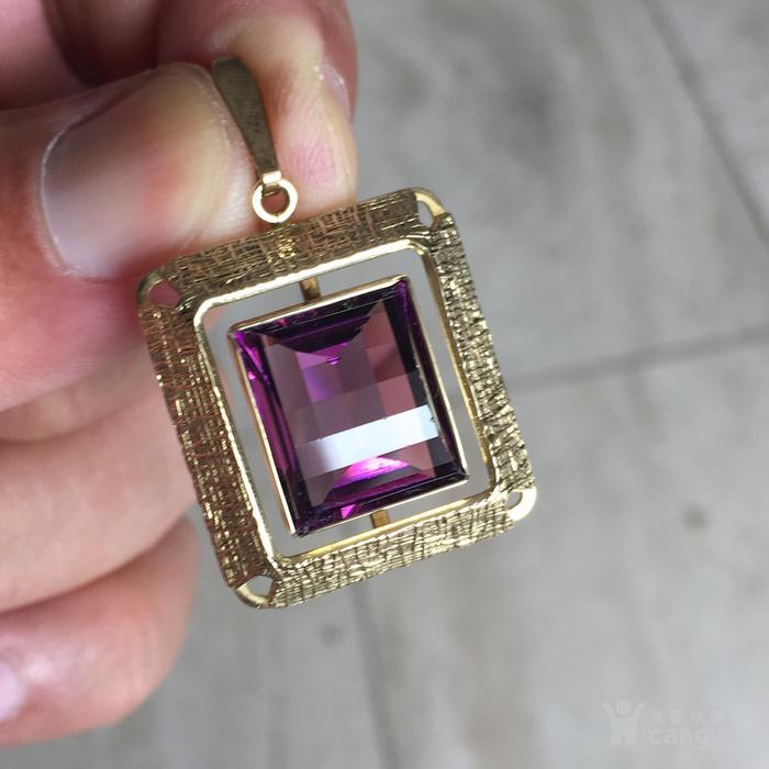 镶紫晶金吊坠图4