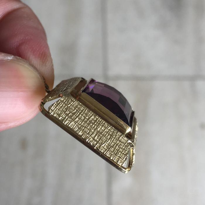 镶紫晶金吊坠图6