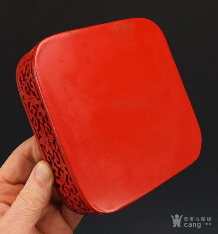 民国剔红漆器四方大盒图8
