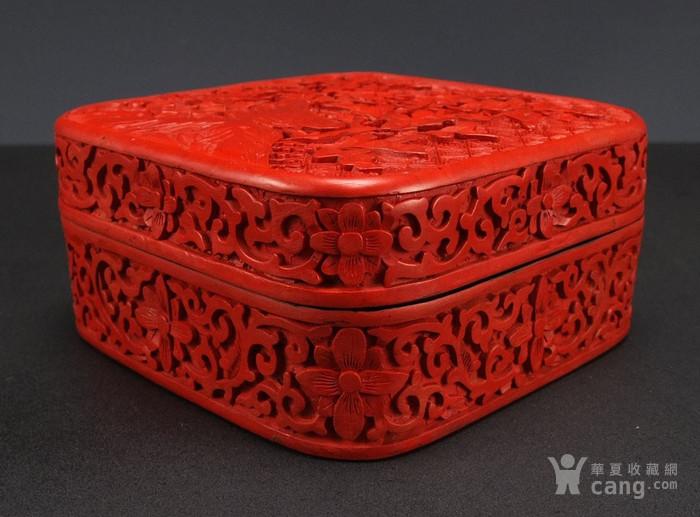 民国剔红漆器四方大盒图3