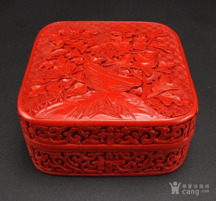 民国剔红漆器四方大盒图7