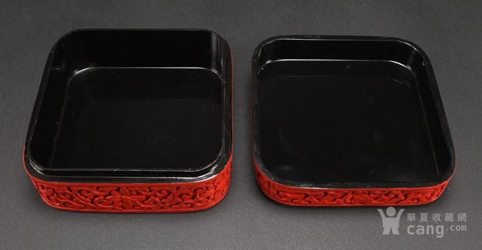 民国剔红漆器四方大盒图9