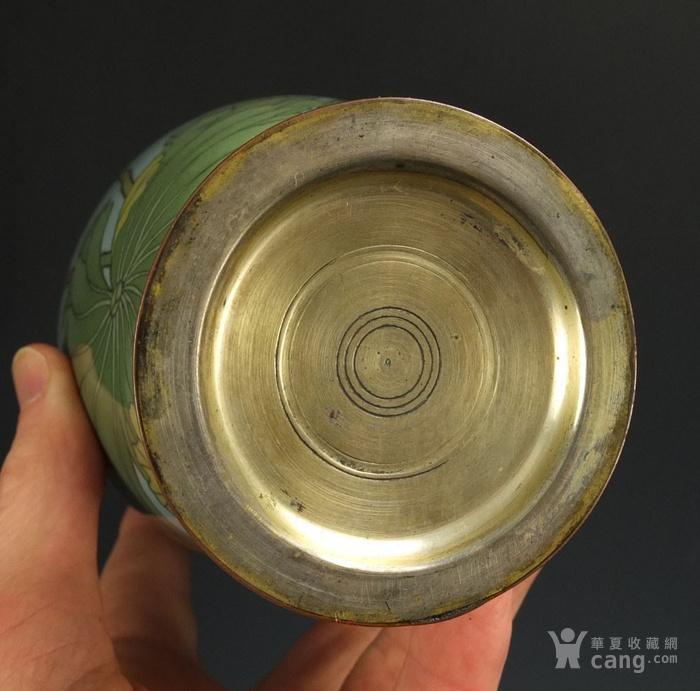 清代 七宝烧 花绘纹 观音瓶图5