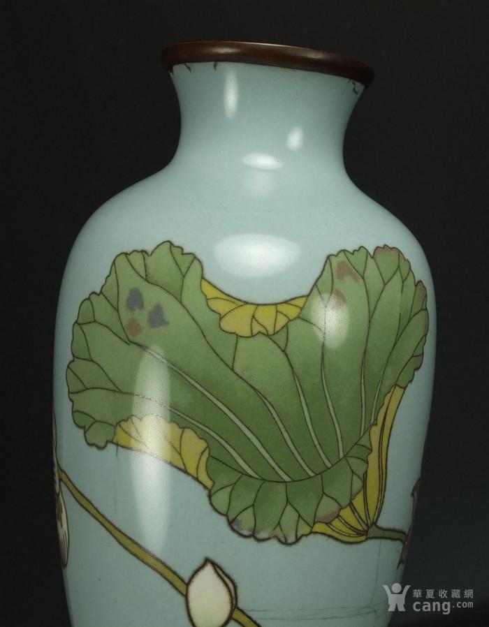 清代 七宝烧 花绘纹 观音瓶图10