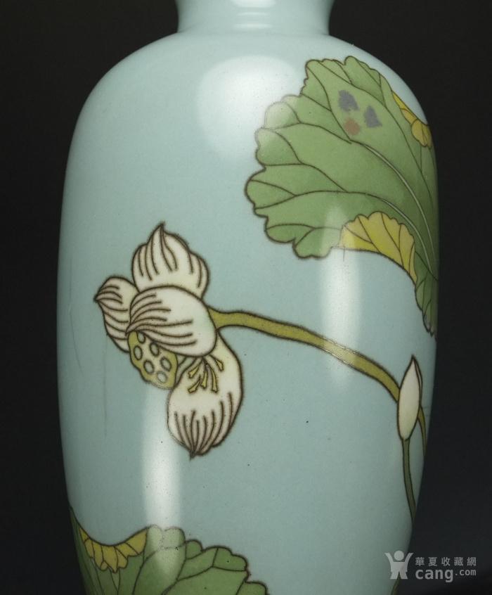 清代 七宝烧 花绘纹 观音瓶图11