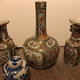 残旧广彩花瓶