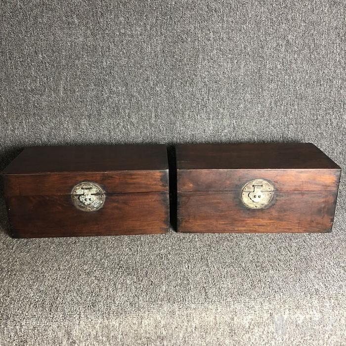 清代传世黄花梨书箱书盒摆件古玩木艺黄花梨摆件老盒子图1