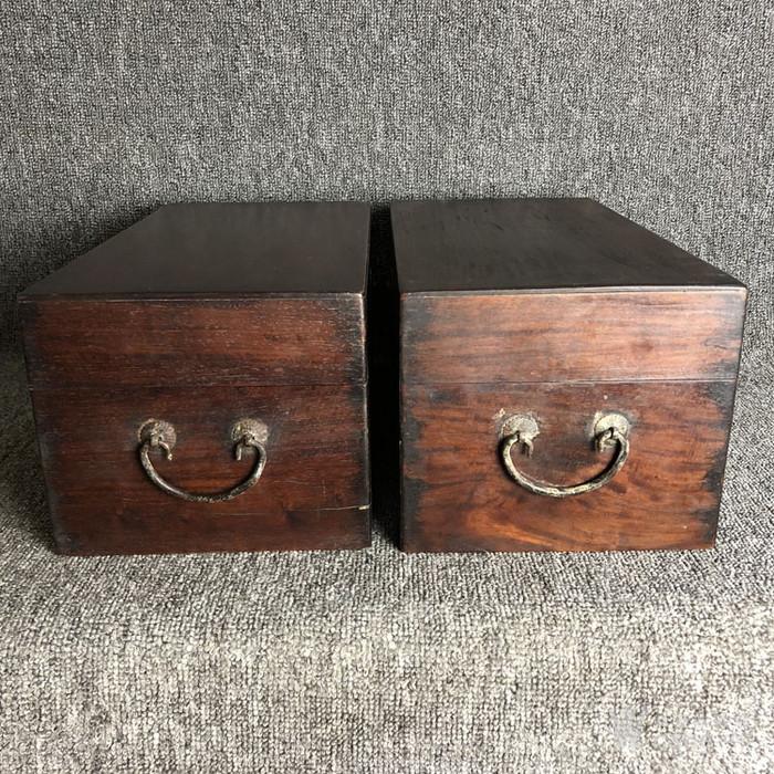 清代传世黄花梨书箱书盒摆件古玩木艺黄花梨摆件老盒子图5