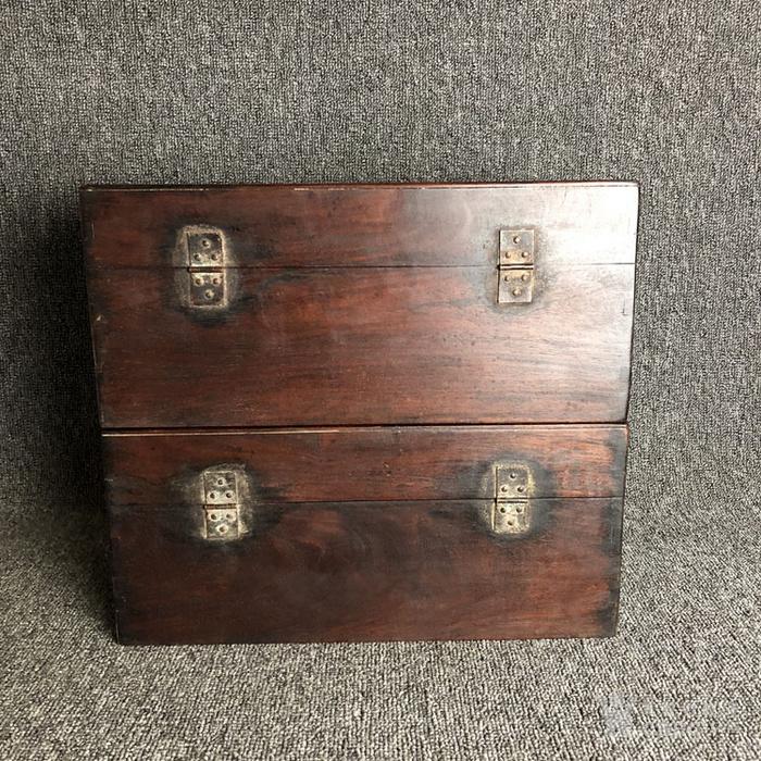 清代传世黄花梨书箱书盒摆件古玩木艺黄花梨摆件老盒子图7