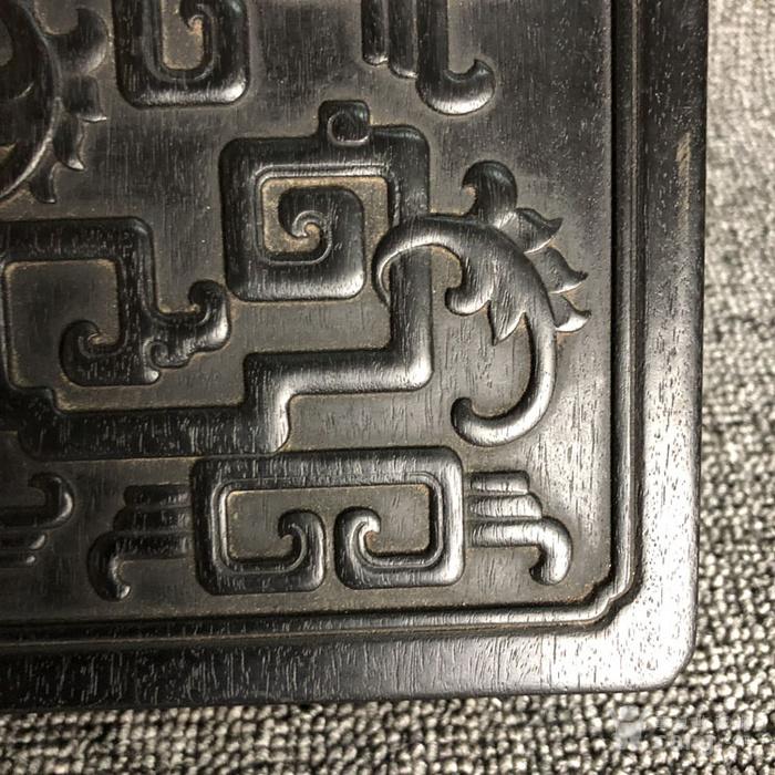 清代传世紫檀满工雕刻龙纹多层捧盒收纳盒古玩杂项紫檀盒图10