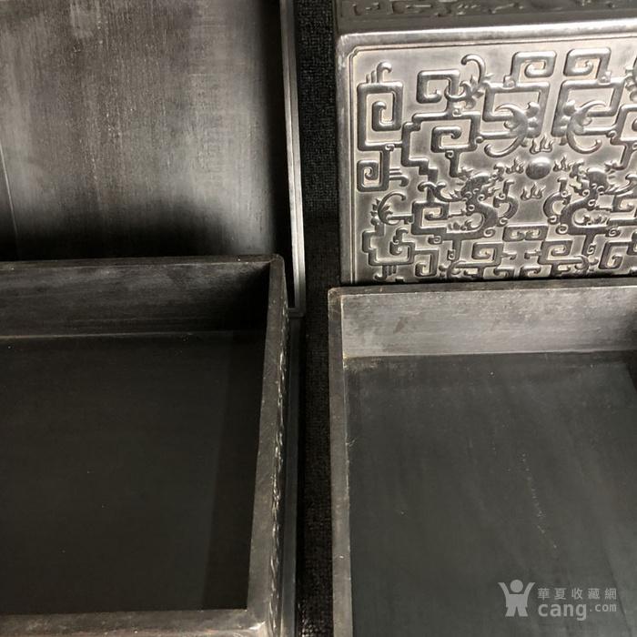 清代传世紫檀满工雕刻龙纹多层捧盒收纳盒古玩杂项紫檀盒图7