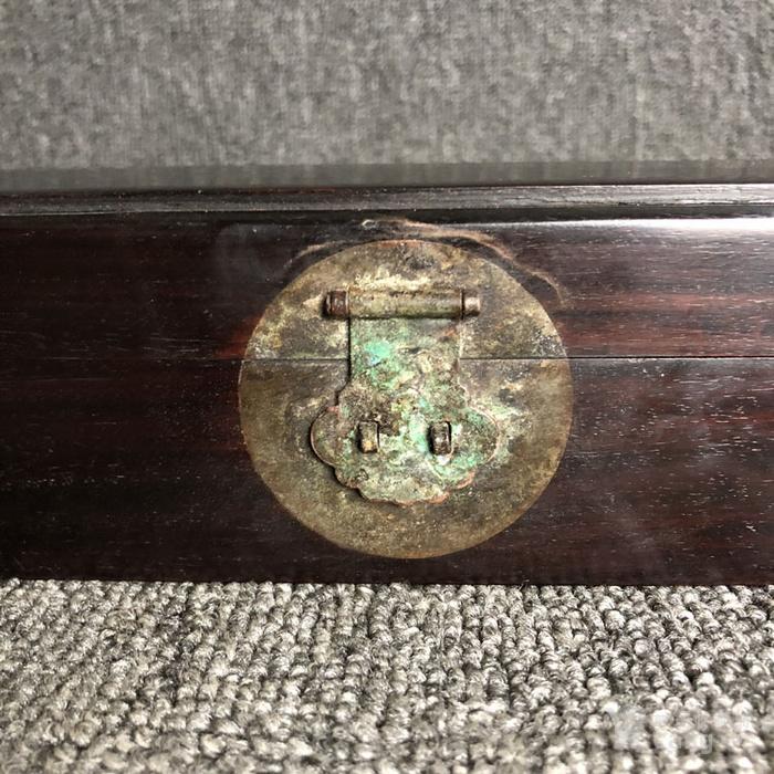 清代传世紫檀素面首饰盒收纳盒古玩杂项紫檀首饰盒图3