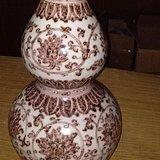 大明宣德年制釉里红缠枝花卉葫芦瓶